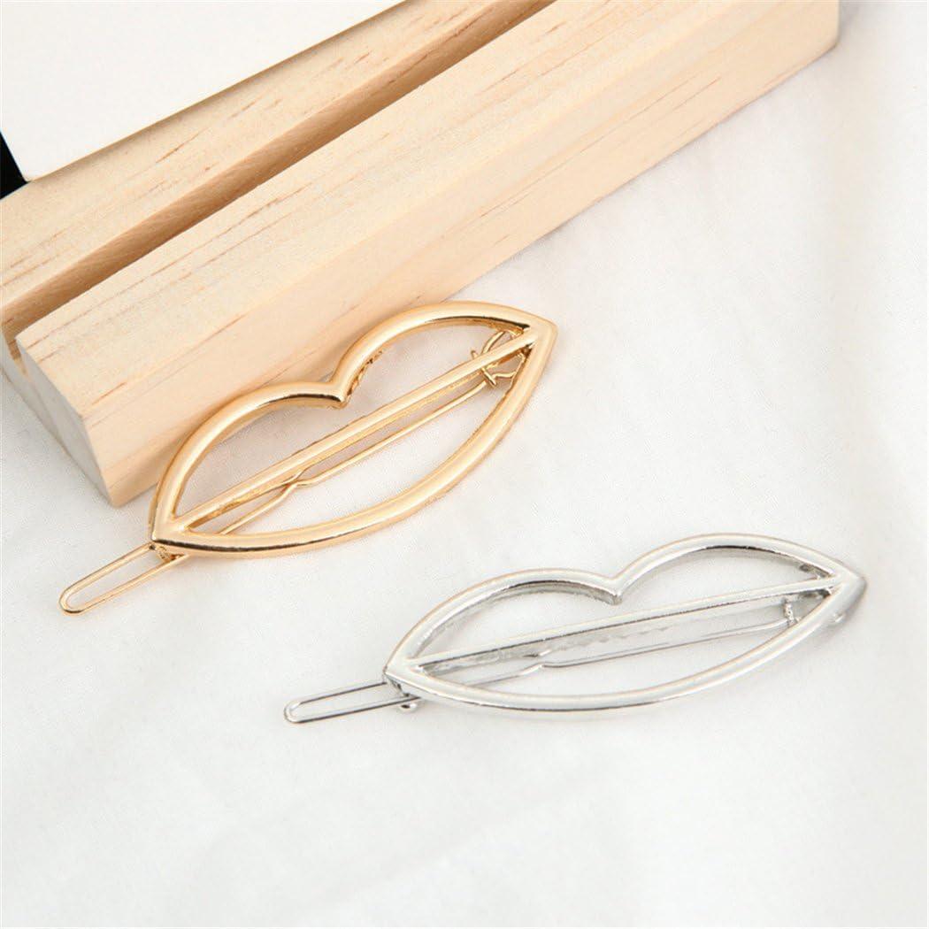 Zoylink Pasador de Barrette Horquilla de Metal Clip de Pelo Geom/étrico Creativo de La Forma Geom/étrica para Las Muchachas de Las Mujeres