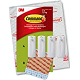 Command Sawtooth Picture Hangers, White, 4 Hooks 8 Strips - Easy to Open Packaging - PH040-4NA
