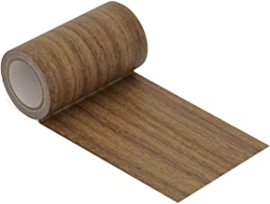 "Repair Tape Patch 2.4"" X15' Wood Textured Adhesive for Door Floor Table and Chair (Antique Oak # 2)"