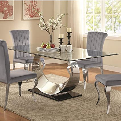 Amazon Com Coaster 107051 Co Furniture Manessier Dining Table Tables