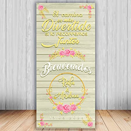 Decoración Boda | Cartel Boda Camino | 70cm x 150cm: Amazon ...