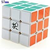 Dayan Cube Magique 3x3x3 Professionnelle 57MM Blanc ZhangChi Record du monde de vitesse Puzzle Speed Cube