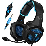 Amazon Price History for:Sades SA-807 Stereo Bass Surround, Soft Memory Earmuffs, Gaming Headset Compatible with PC Xbox One, Mac, PS4, PS4 Pro, Laptop and Mobile Gaming(Black and Blue)