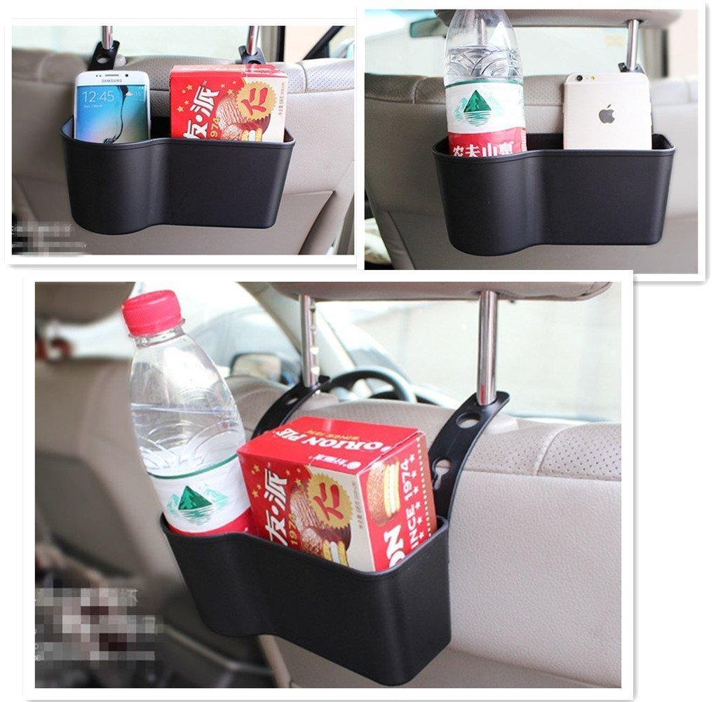 Eximtrade Car Water Bottle Holder Organizer Storage Box Bag Drink Coffee Snacks Accessories