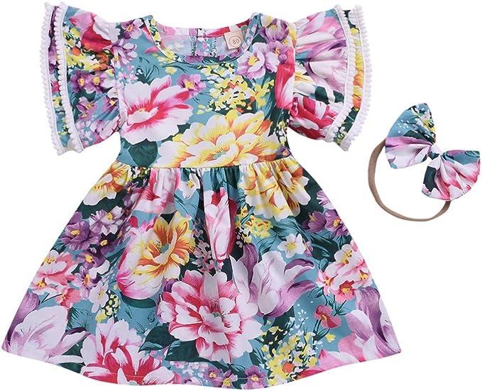 Innerternet-Vestido de niña, 18 Meses-6 años de Edad niñas Vestido ...