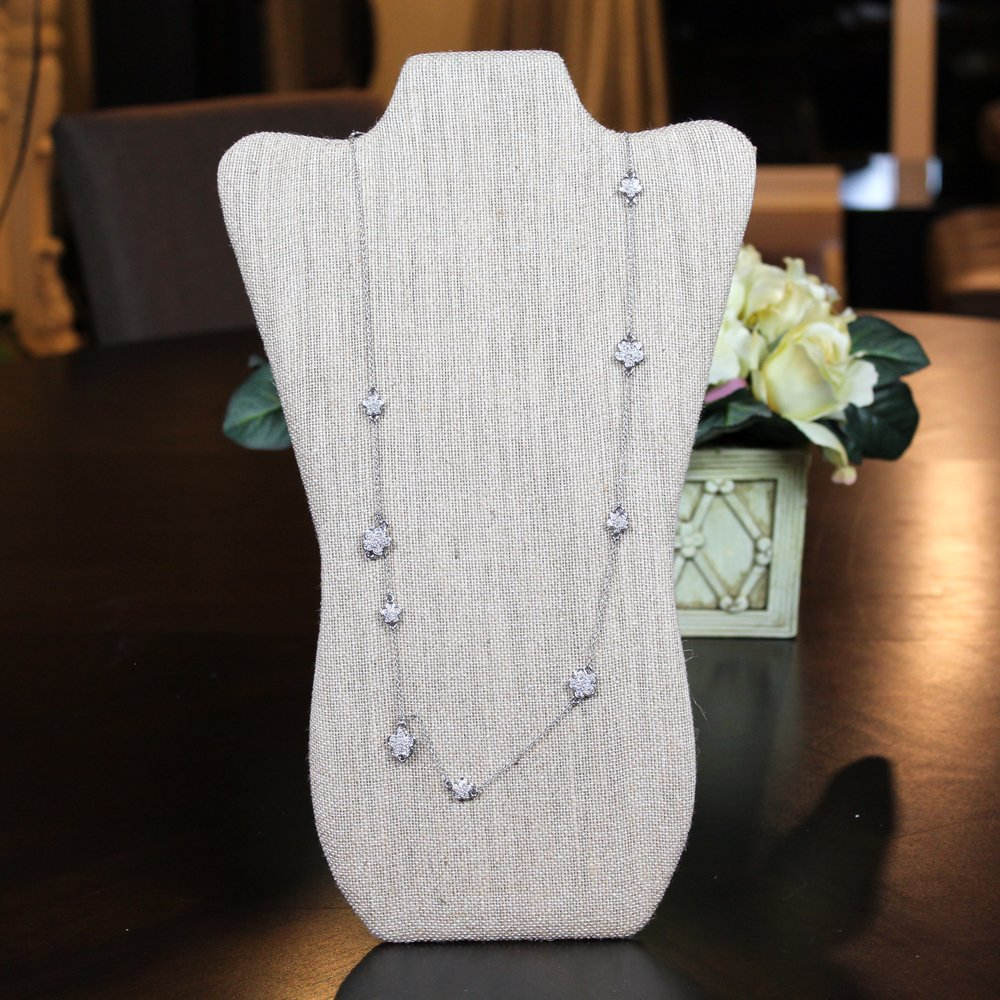 Mooca 6 Pieces Linen Cover MDF Wood with Sturdy Cardboard Easel Necklace Display 8 5/8''W x 14 1/8''H by Mooca (Image #5)