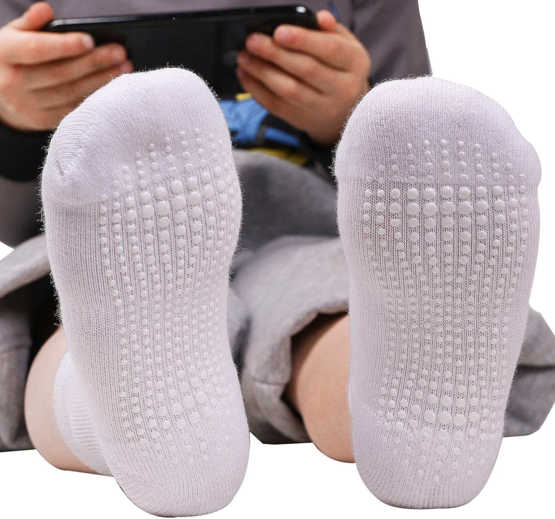 6 Pairs Newborn Baby Kids Socks Boy Girl Non Skid Breathable Cotton Grip Socks