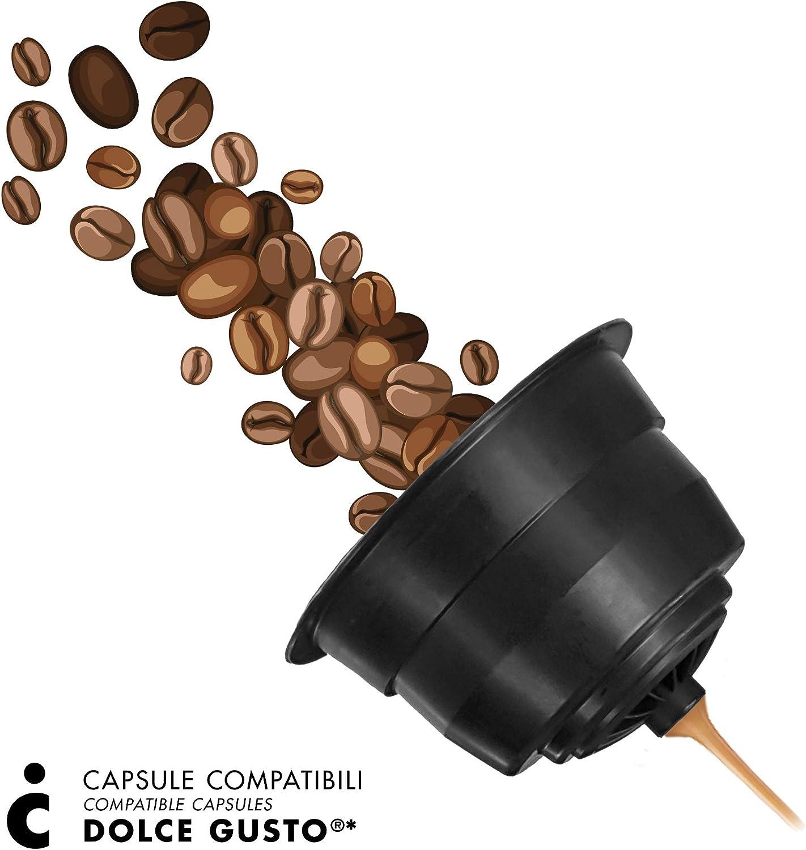 FRHOME - 96 Cápsulas de café compatibles con maquinas Dolce Gusto ...