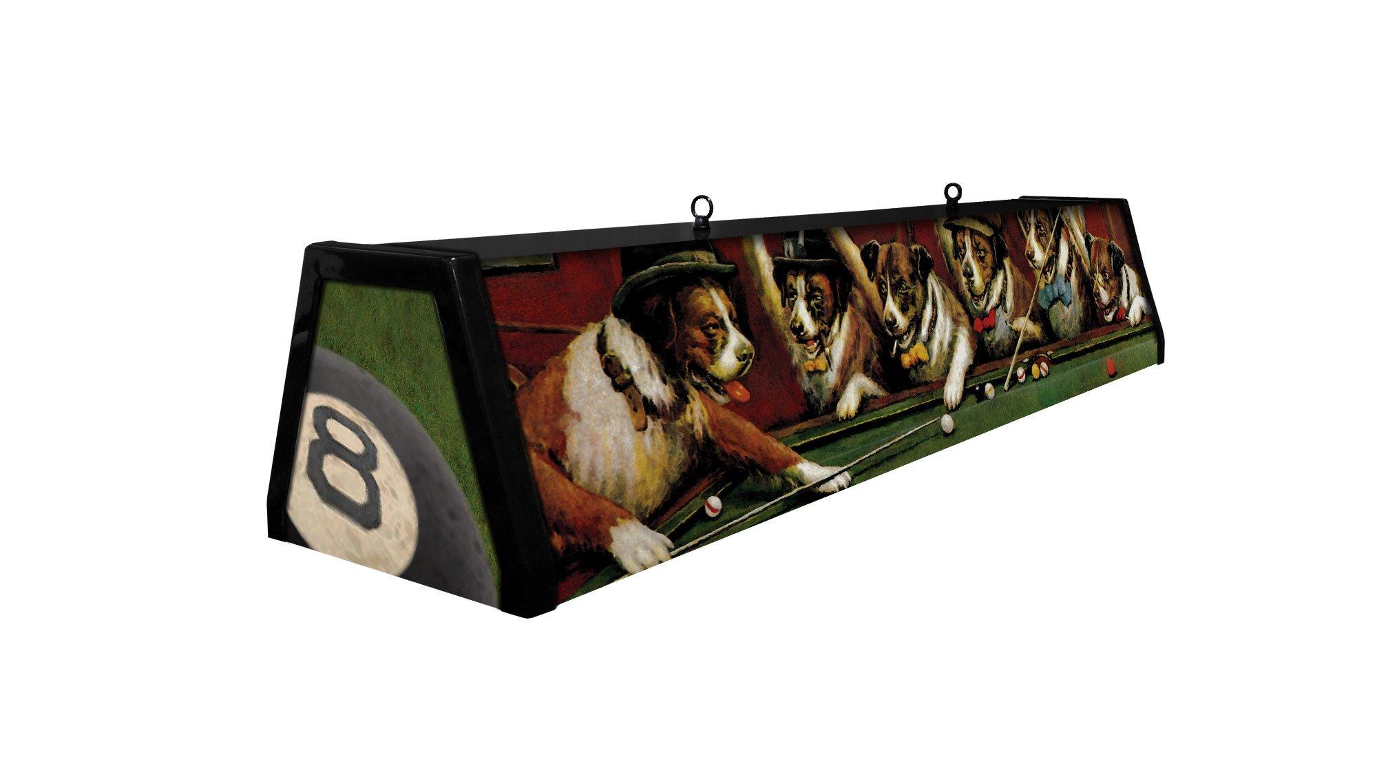 44'' Acrylic Pool Table Light, Dogs Playing Pool