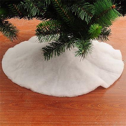 christmas decorations white christmas tree skirt christmas tree bottom decoration80cm - Amazon White Christmas Decorations