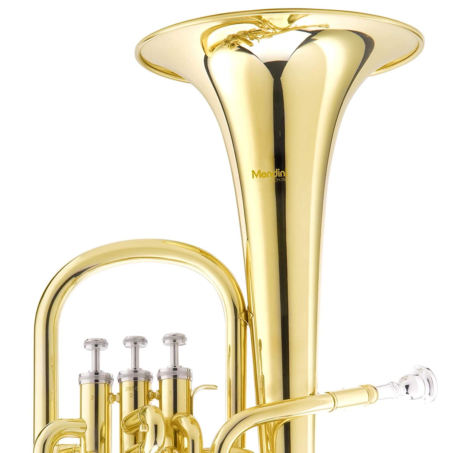 Lacquered Mendini E Flat Alto Horn with Stainless Steel Pistons