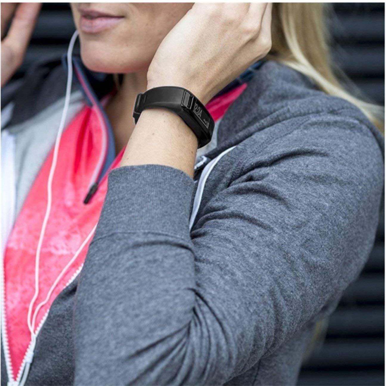 Bracelet en Silicone Souple Bracelet de Rechange pour Bracelet de Rechange pour Garmin VIVOSMART HR Fitness Montre Intelligente Couleur: Noir