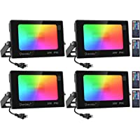 Deals on 4-Pack Onforu 20W RGB Flood Light with Remote