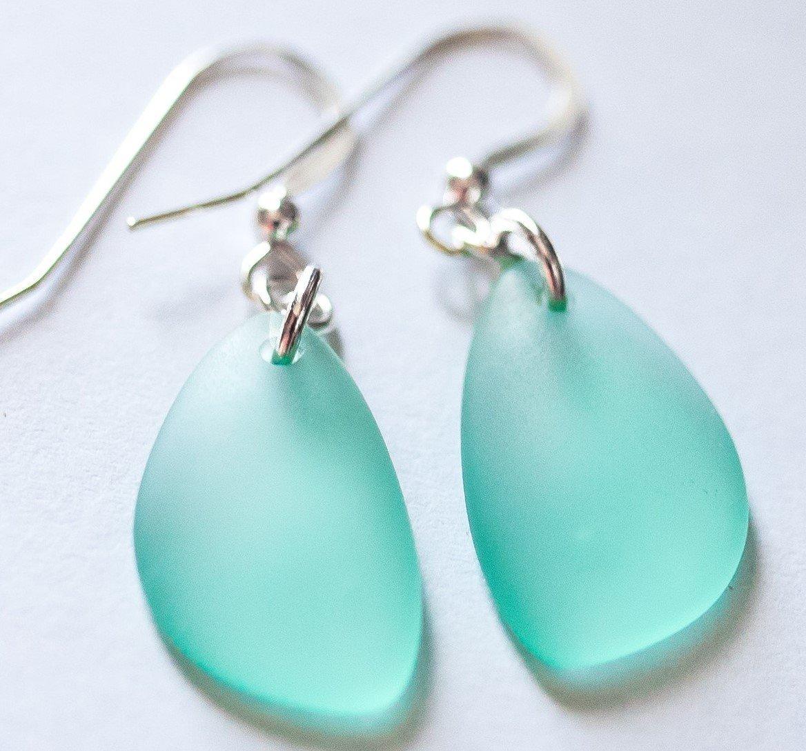 NUMBER ONE Selling Sea Foam Earrings from NAUTICAL SEA GLASS, Sea Foam, Mint Sea Glass Earrings, Sterling Silver Earrings, Aqua Earrings, Christmas gift for her, Dangle Earrings, Mint Jewelry