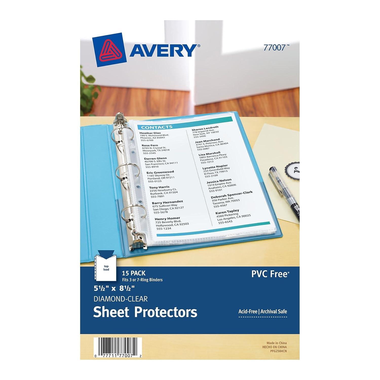 Amazon.com : Avery Mini Heavyweight Sheet Protectors, 5.5 x 8.5 ...