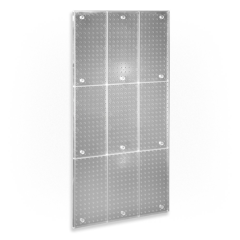 Azar 700248-CLR Clear Frosted 24-Inch W by 48-Inch H Pegboard Wall Panel