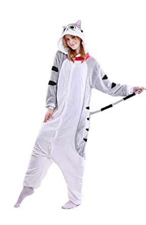 Amazon.com  Yutown Unisex-Adult Animal Onesie Pajamas Kigurumi Cosplay  Costume Halloween Cat  Clothing 0eca5143c