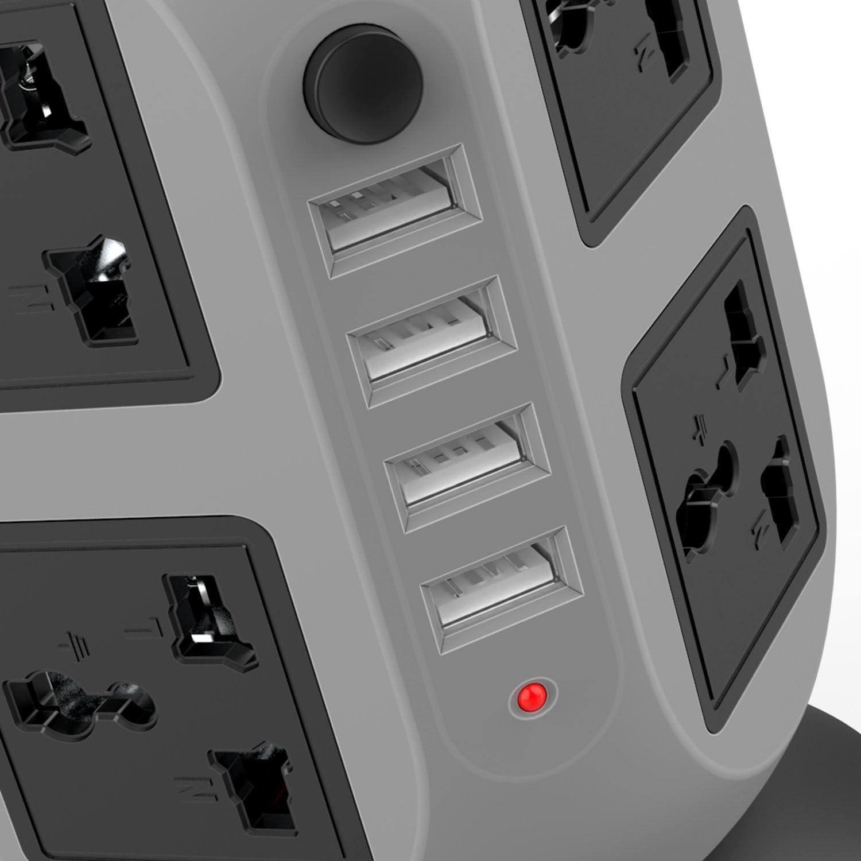 Regletas, Regleta Enchufes con 8 Tomas + 4 USB Salidas Regleta ...