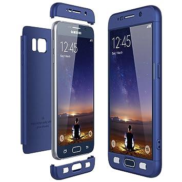 CE-Link Funda Samsung Galaxy S6, Carcasa Fundas para Samsung Galaxy S6, 3 en 1 Desmontable Ultra-Delgado Anti-Arañazos Case Protectora - Azul