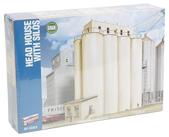 Walthers HO Scale Cornerstone Series174 Modern Grain Series Kits Head House  w/Silos 9-1/2 x 5 x 11