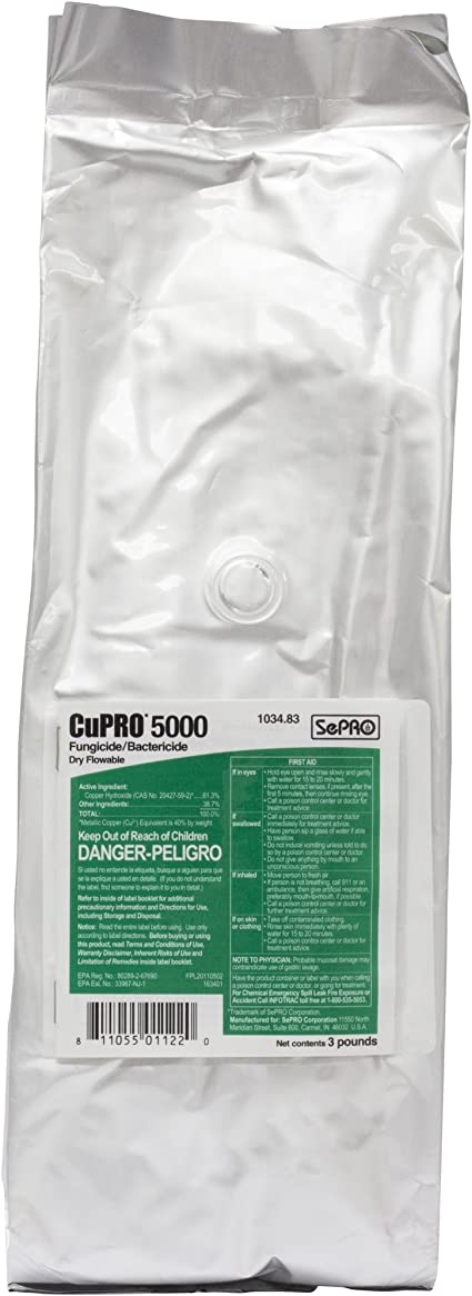 CuPRO 5000 Fungicide/Bactericide 3lb Dry Flowable Copper Hydroxide 61.3% Generic Kocide