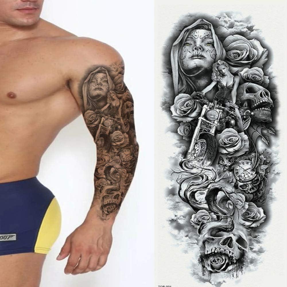 Pegatinas de tatuaje a prueba de agua Brazo completo Pegatina de ...