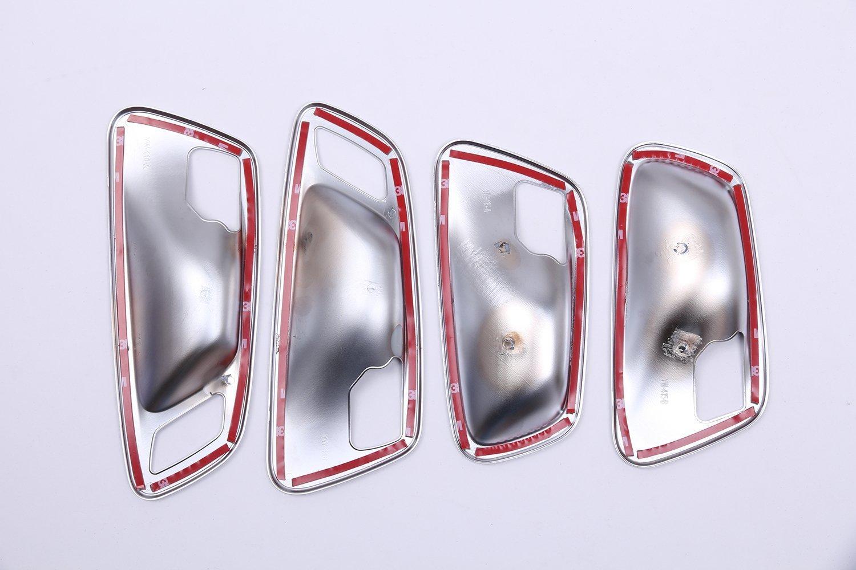 Carbon ABS Chrome Decoration Interior Door Bowl Accessories Frame Cover Trim Sticker Accessory For 218i Gran Tourer F46 2015-2017