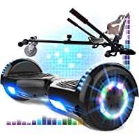 RCB Hoverboard 6.5 y Hoverkart Overboard con Bluetooth Patinete Eléctrico Scooter con Luces LED Asiento Sólido Juguete…