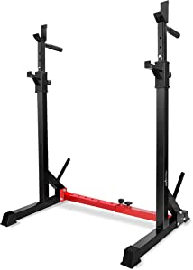 Yes4All Adjustable Barbell Squat Rack – Standard and Premium Options Available