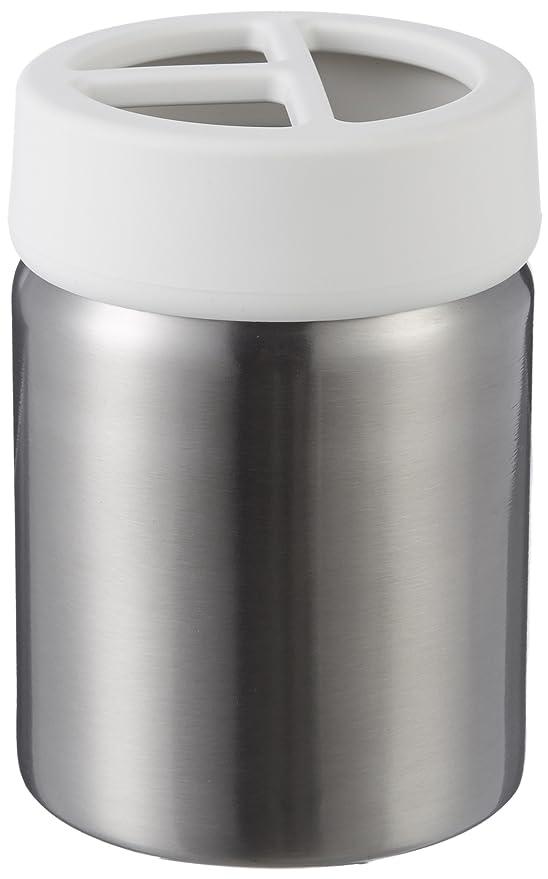 AmazonBasics - Soporte para Cepillo de Dientes, Acero Inoxidable, Blanco: Amazon.es: Hogar