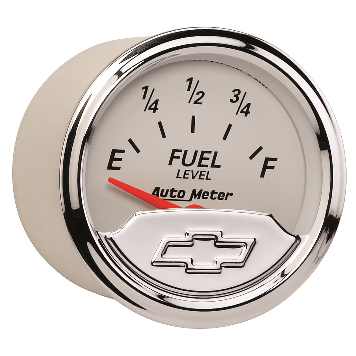 Auto Meter 1317-00408 Chevy Vintage 2-1//16 Electric Fuel Level Gauge Empty//Full, 52.4mm