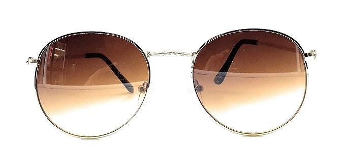 Lagom - Gafas de sol Round Metal con funda Ambra New S ...