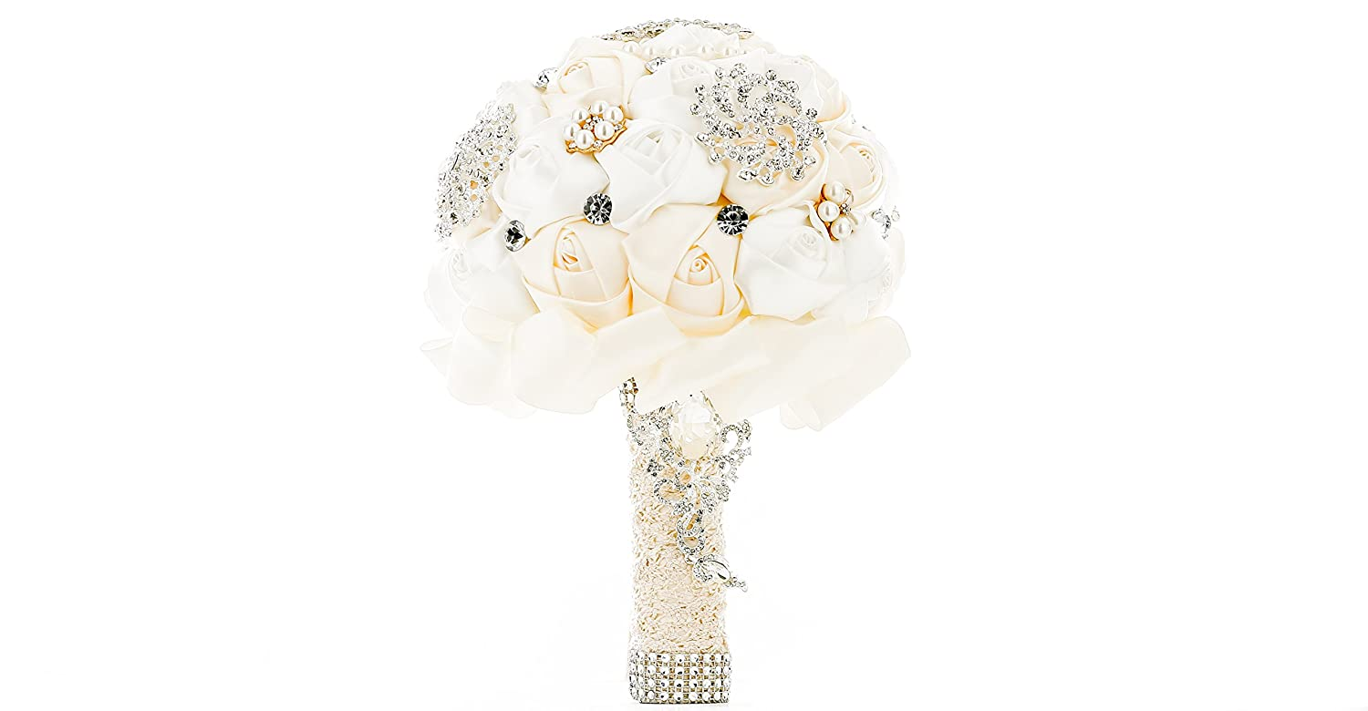 My Darling Pavian Advanced Customization Romantic Bride Wedding Holding Bouquet Roses Multi-Color Selection White