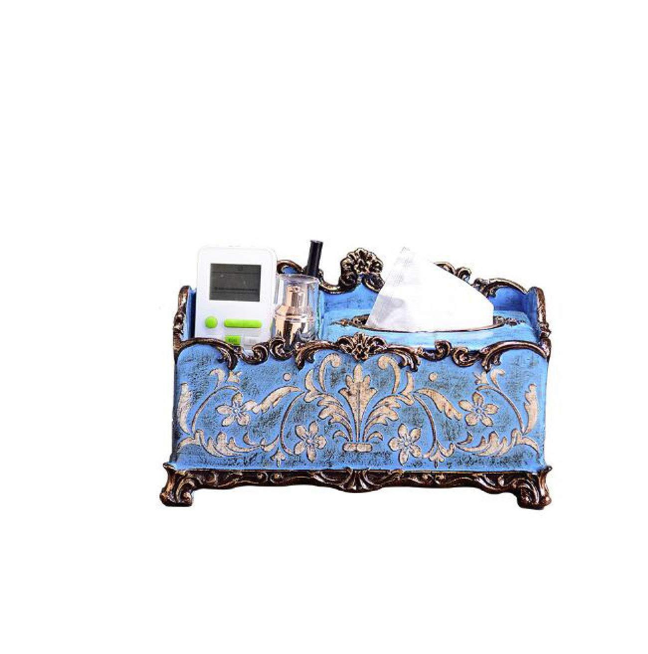 American Retro Embossed Multi-Purpose Tissue Box Creative Fashion high-end Home Coffee Table Storage Box Decorative Ornaments by Ertry