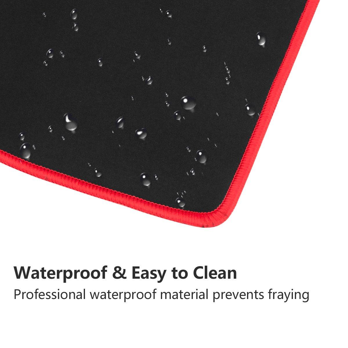 Gaming Mauspad Wasserfest Mausmatte, Vellepro XXL Große Mousepad Anti-Rutsch für PC, Computer, Gaming Maus und Tastatur (800 x 300 x 3mm)