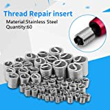 Walfront 60Pcs Stainless Steel Wire Thread Insert