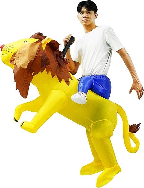 PARAYOYO Disfraz de león Inflable Paseo en Traje de león Vestido ...