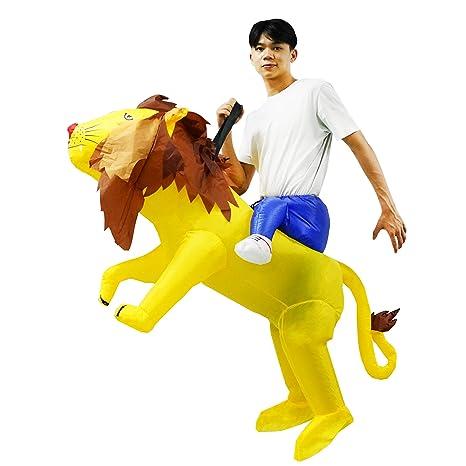 PARAYOYO Disfraz de león Inflable Paseo en Traje de león ...