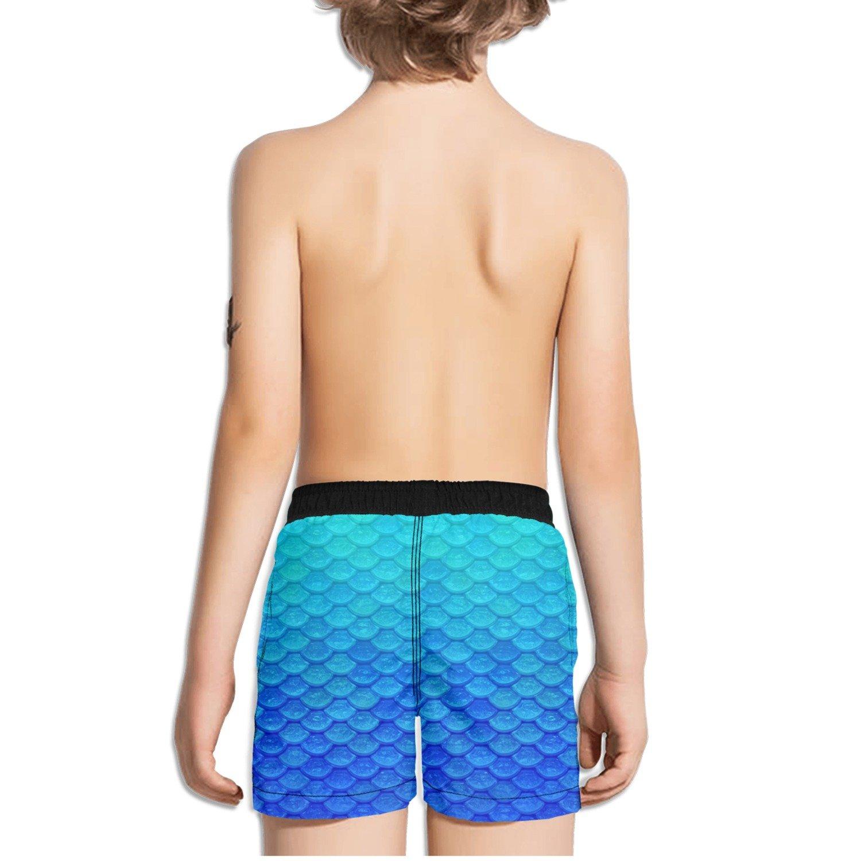 f90fb9621f Amazon.com: FullBo Blue Mermaid Scales Little Boy's Short Swim Trunks Quick  Dry Beach Shorts: Clothing