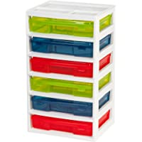 IRIS 6-Case Activity Chest with Organizer Top (Assorted Colors)