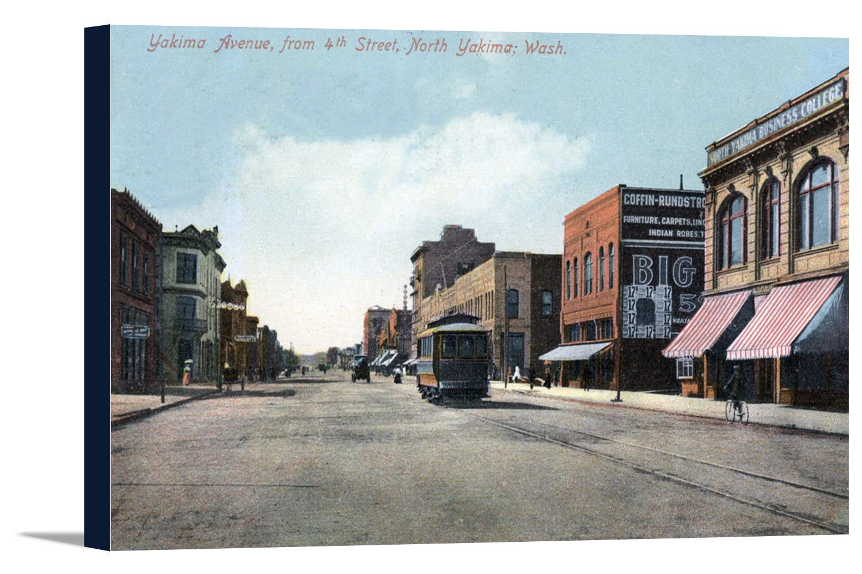ヤキマ – 4th Street View of Yakima Avenue 24 x 14 3/4 Gallery Canvas LANT-3P-SC-15616-16x24 B01AXC3JL6  24 x 14 3/4 Gallery Canvas