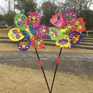 fogun 3d mariposa insecto Molino de viento viento Spinner Casa Jardín Patio Decoración Niños juguete: Amazon.es: Joyería