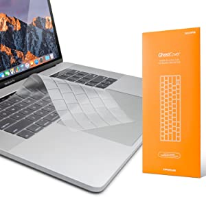 """UPPERCASE GhostCover Premium Ultra Thin Keyboard Protector for MacBook Pro with Touch Bar 13"""" and 15"""" (2016 2017 2018 2019, Apple Model Number A1706, A1707, A1989, A1990, A2159)"""