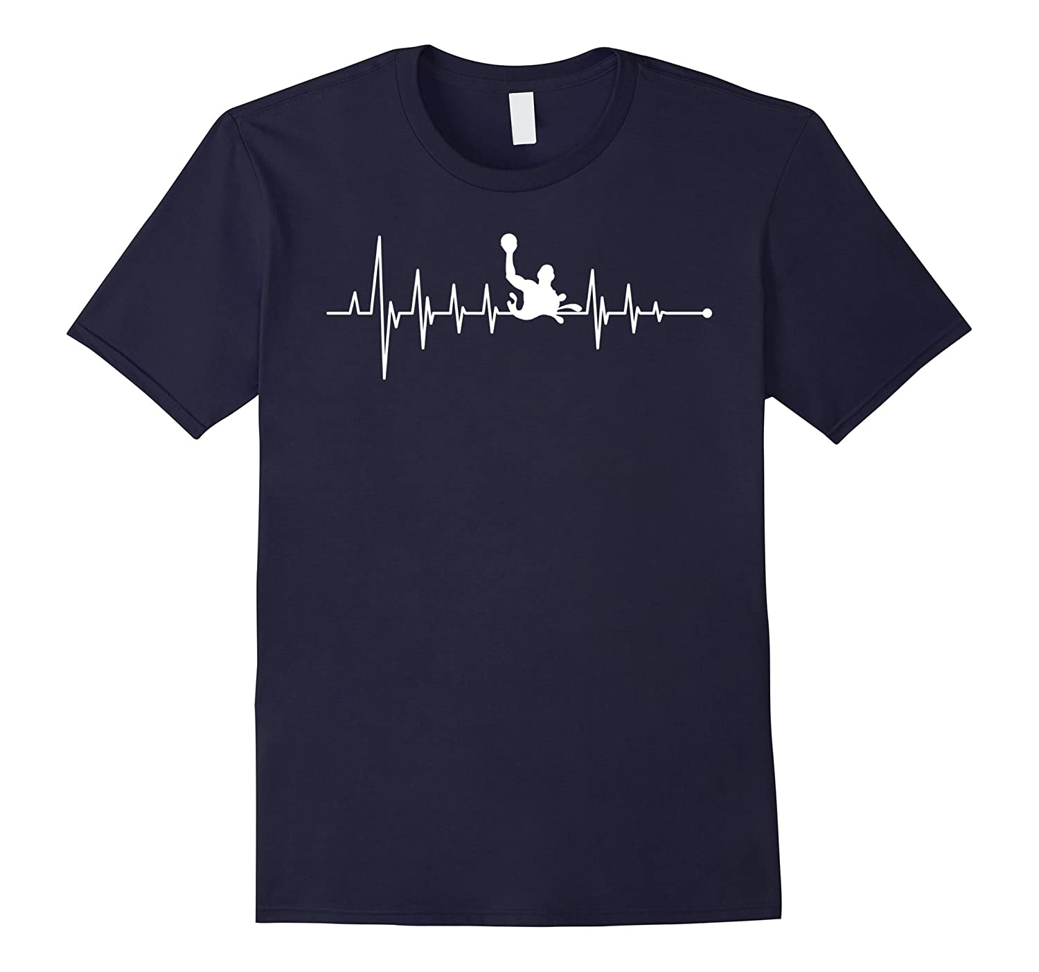 Water Polo Heartbeat Special Gift T-Shirt-TD