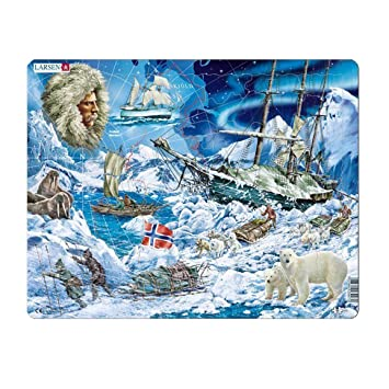 Larsen - Puzzle Enmarcado Polo Norte 65 Piezas, NB7: Amazon.es ...