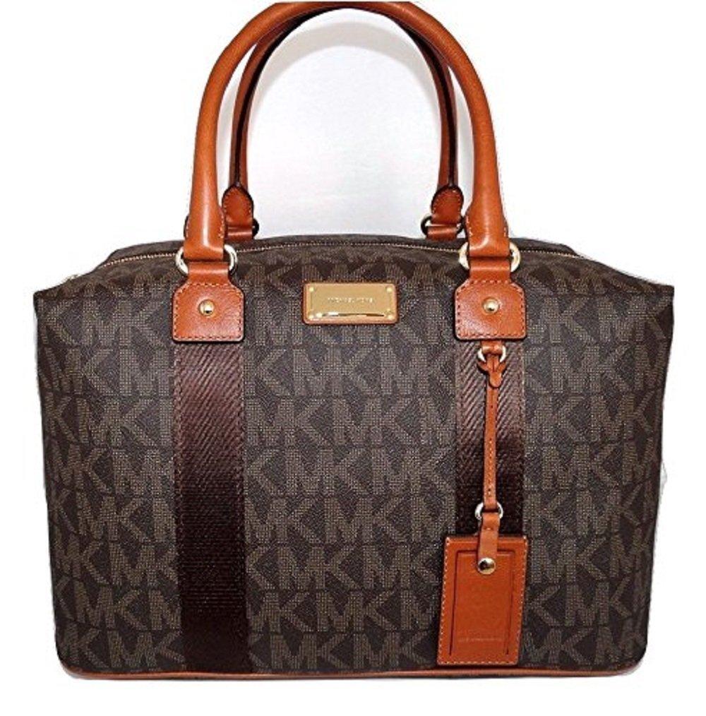 Michael Kors Jet Set Travel Signature Large Weekender/ Carry On Bag (Brown)