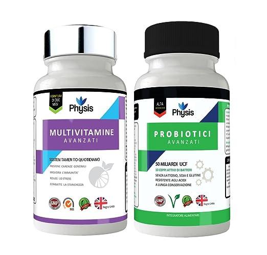 3 opinioni per Il Pacchetto Combinazione Probiotico Physis Advanced + Multivitaminico- 50
