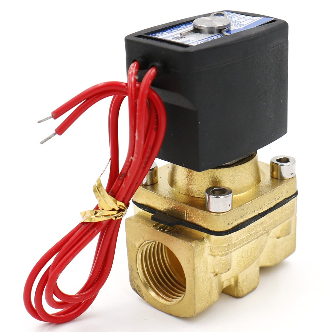 Heschen brass electric solenoid valve V2A102-03 12 VDC PT 1/2' 2 port 2 position direct action water air oil valve normally closed Heschen Electric Co.Ltd