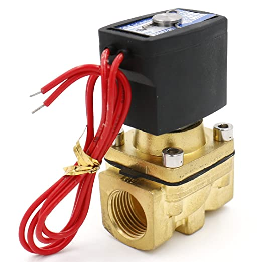 Heschen Brass Electric Solenoid Valve 1//4 Inch DC 12V Direct action Water Air Ga