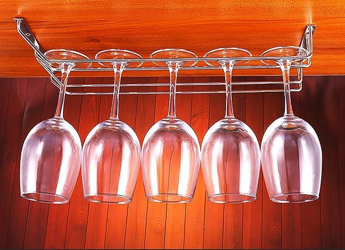 Wine Glass Holder Stemware Rack Black 27cm 1 Row Abcsea 1 Piece Wine Glass Rack Under Cabinet Goblet Wine Rack with Screws